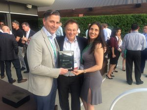 Dialight's Distributor of the Year Award for 2018 at EDS in Las Vegas