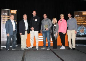 Americas Distributor of the Year Award for 2018 at TE's annual Regional Summit in San Diego